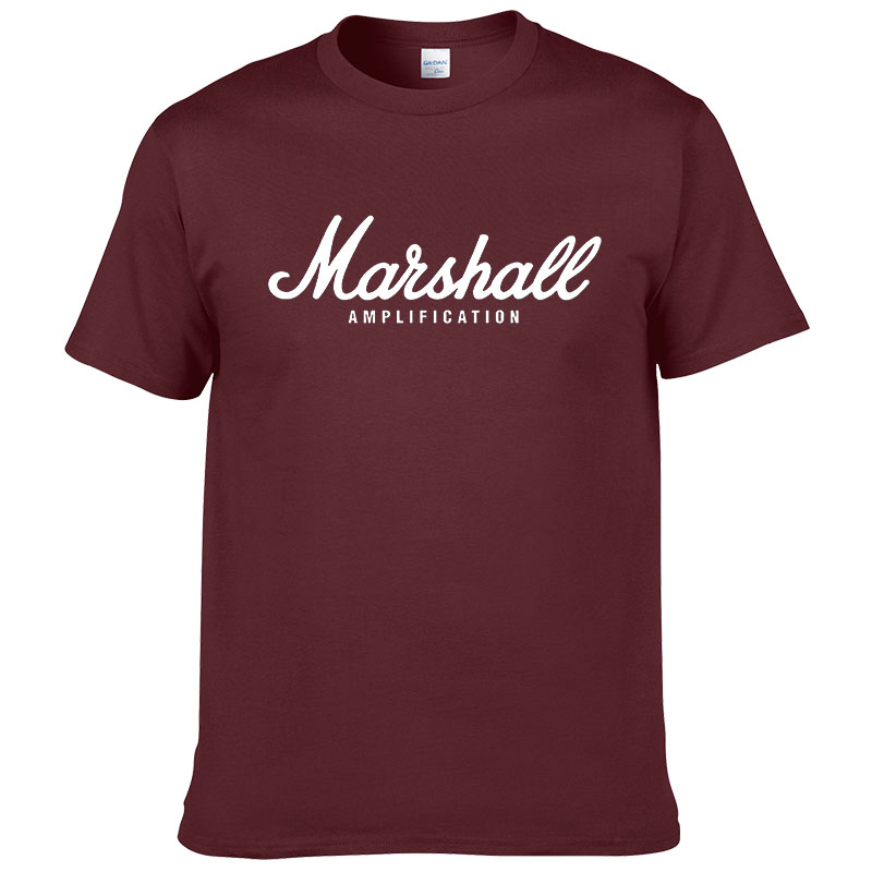 100% cotton Marshall T Shirt men short sleeves tee hip hop street wear for fans hipster 5