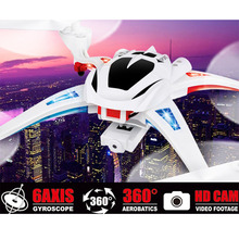 New Arrival NIHUI U807 Headless Mode 6 Axis 2.4G 4CH 360 Degree UFO Drones /w2.0MP HD Camera RC Helicopter Remote Control Toys