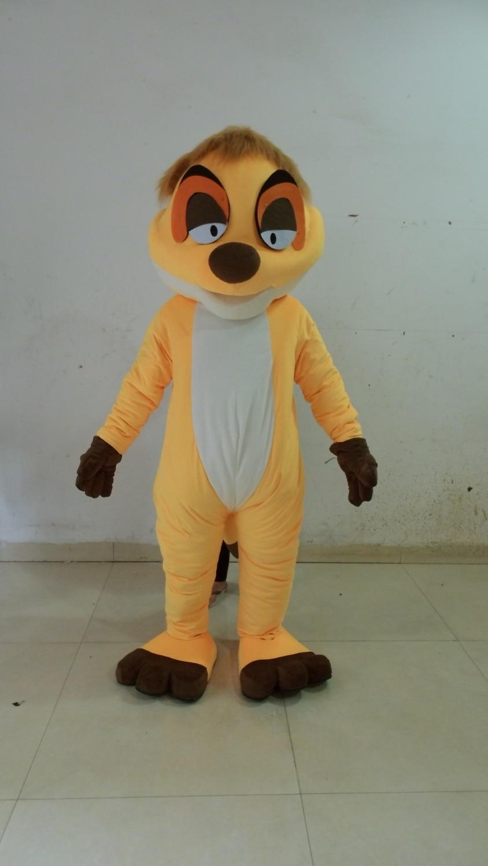 Joli Costume de mascotte de renard jaune avec petit nez noir blanc gros ventre jaune Shorts violet chaussures taille adulte livraison gratuite