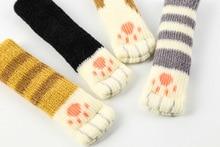 4pcs knitting cat style Chair Leg Socks Home Furniture Floor Protectors