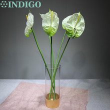 5pcs/Lot Anthurium Real Touch Flower Elegant Wedding Plastic Floral Even Party Table Free Shipping