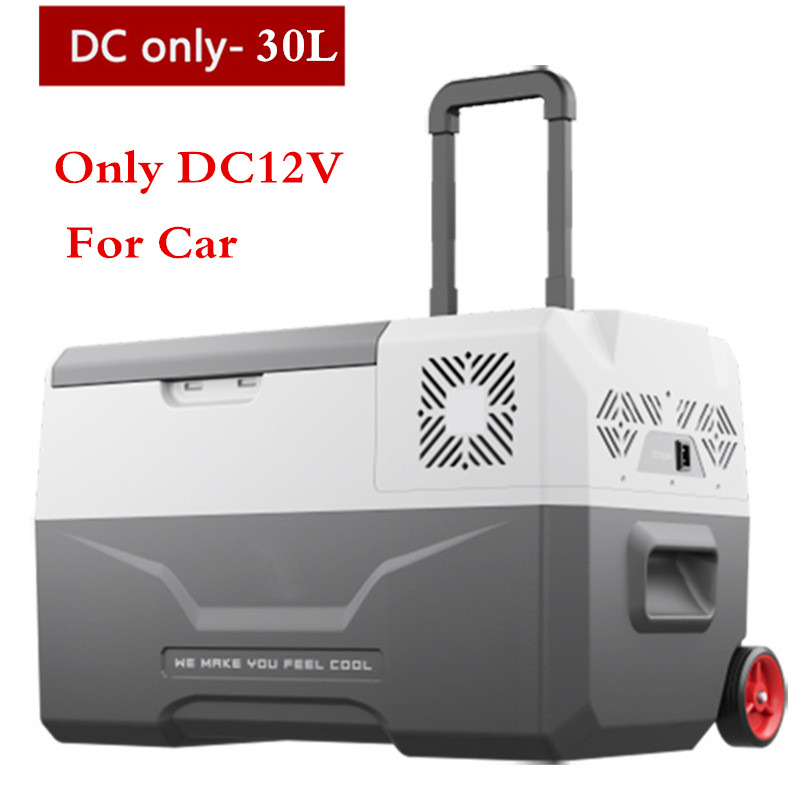 30L High Quality -20 Degrees Freeze Fridge 12V/24V Portable Compressor Car Refrigerator Multi-Function Auto Cooler Freezer