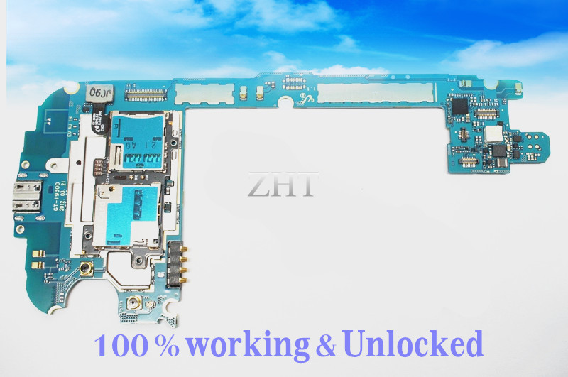 international language Original Google PCB For Samsung GALAXY S3 i9300 Motherboard 16GB Clean IMEI switch international language european original google mainboard chips logic for galaxy note 2 n7100 motherboard 16gb clean imei