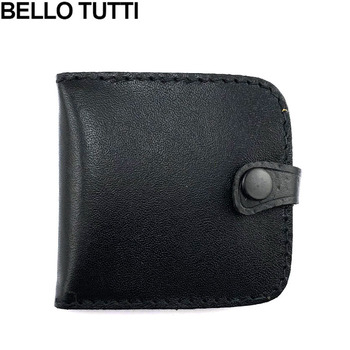 BELLO TUTTI Genuine Pigskin Leather Coin Purse Vintage Design Individuation Small Wallet Real Leather Men Women Coin Bag Wallet
