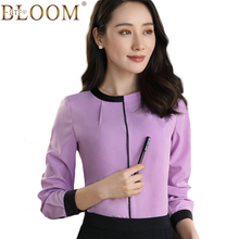 2017 Autumn winter New Women Blouse Shirt Chiffon Blouse Elegant Long Sleeve Shirt Formal Office Lady Wear Female Tops Plus Size