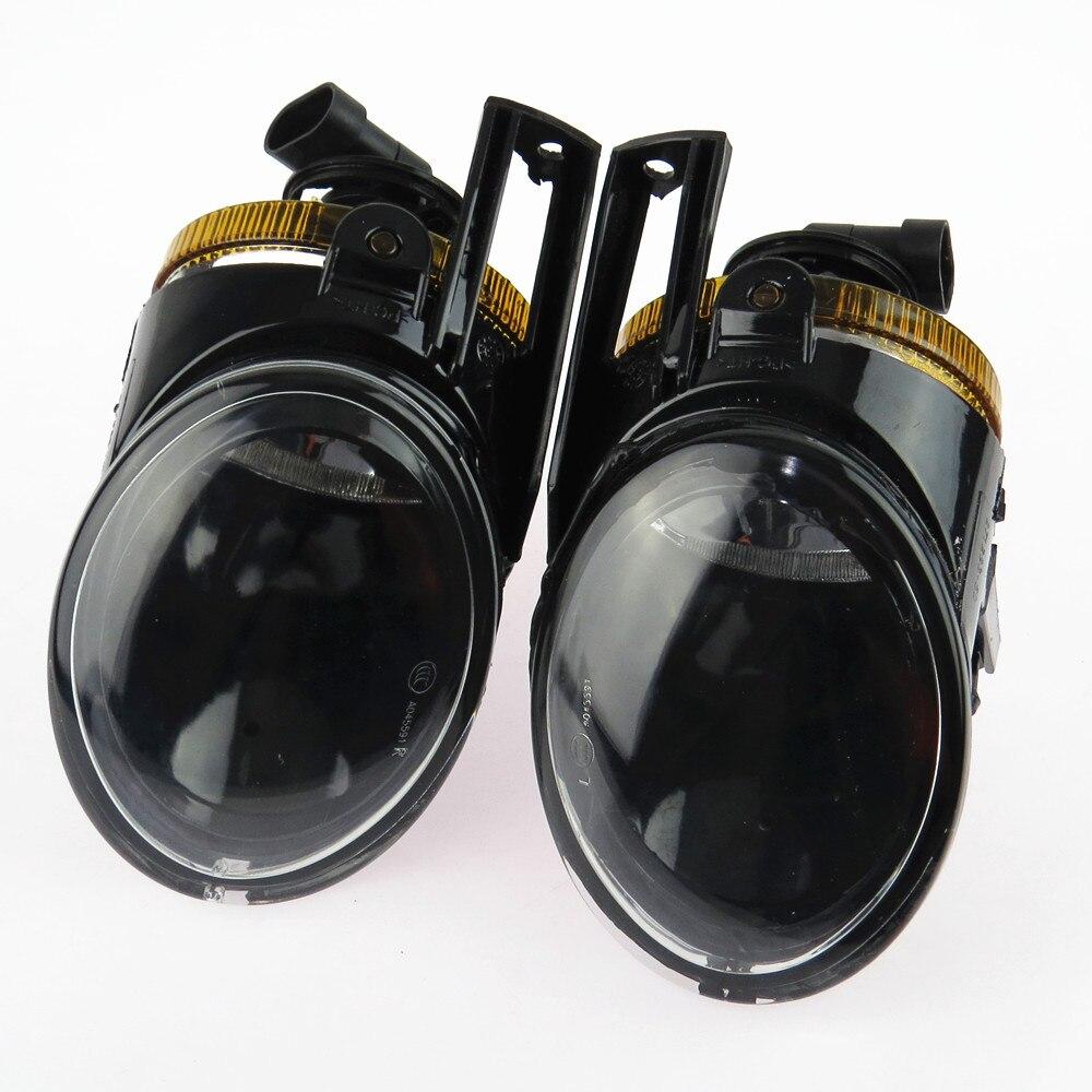 DOXA Left Right Bumper Front Halogen Lights Convex Lens Fog font b Lamp b font 3CD941699