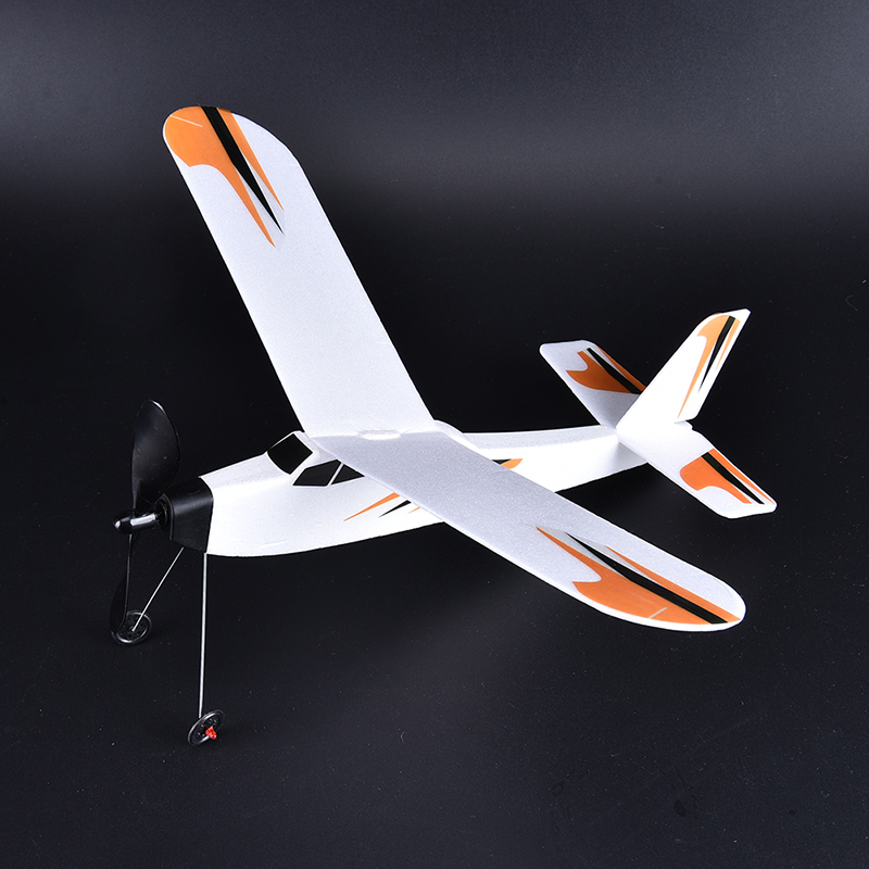 DIY 3D Foam Elastic Powered Glider Rubber Band Plane Flying Model Aircraft Kids Toy  For Children Educational Toy Chirsmas Gift