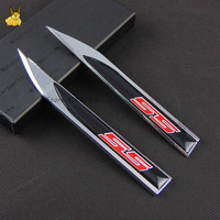 Für Chevrolet SS Logo Emblem Abzeichen Aufkleber Fender Side Auto aufkleber für Aveo Cruze Malibu Sail Captiva lacetti Orlando Epica Trax