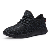 Men Shoes Sneakers 2019 New Summer Lightweight Flying Woven Trainers Black Lace-up Casual Male Flats Zapatos Hombre