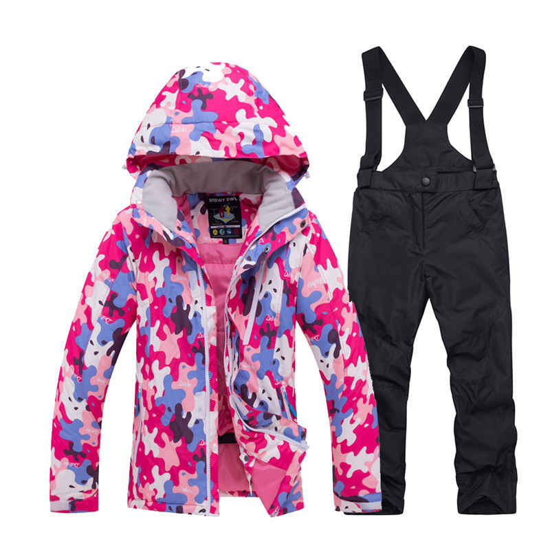 c8dc87db9 Cheap Children's Snow Clothing Snowboarding Sets waterproof Sports wear Boy  or Girl Ski Jacket and strap