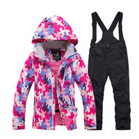 Cheap Children's Snow Clothing Snowboarding Sets waterproof Sports wear Boy or Girl Ski Jacket and strap Snow pant Kids Costume