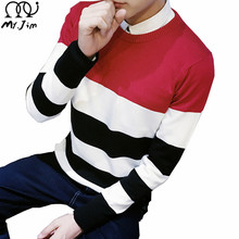 Fashion Sweater Men 2016 Striped Round neck Pullovers Mens Sweaters Brand Casual Long Sleeve Men's Clothing