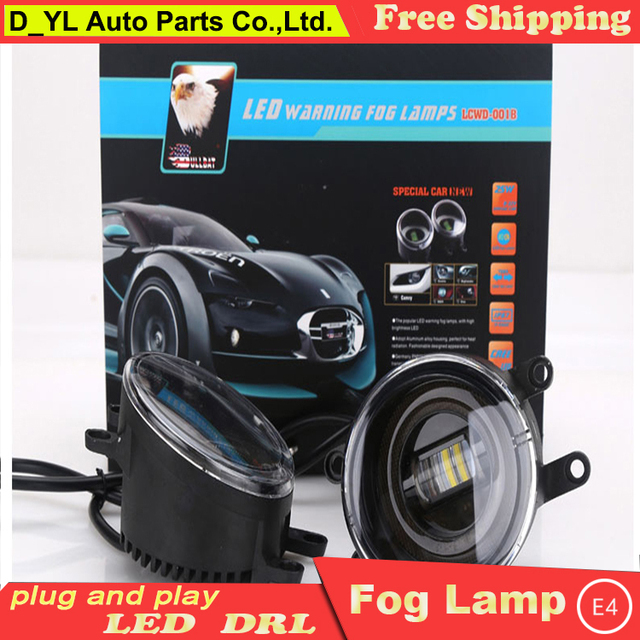 D_YL For Toyota Sienna Led Fog Lamps+LED DRL+turn Signal Lights Car Styling