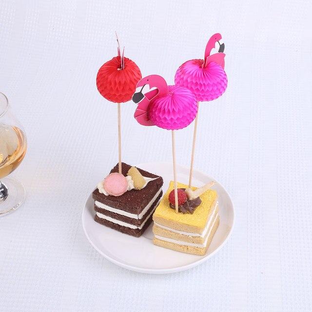 30 Teile Los Kreative Kuchen Obst Zeichen Flamingo Flagge Banner