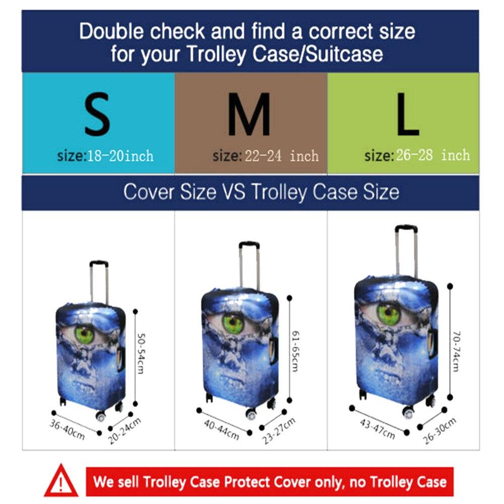 ELVISWORDS Чемодан чехол для 18-30 дюймов случае игрушки принты эластичный дорожные аксессуары чемодан Защитные чехлы с застежкой-молнией
