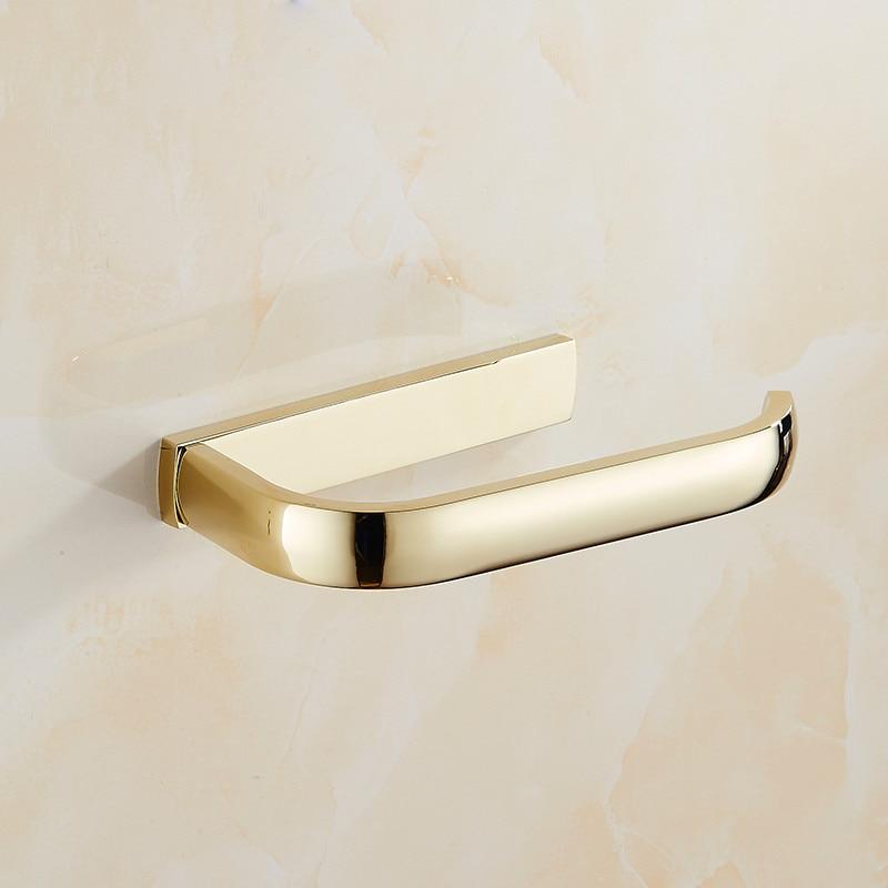 European Gold Plated Brass Bathroom Paper Holder Pendant Towel Ring ...