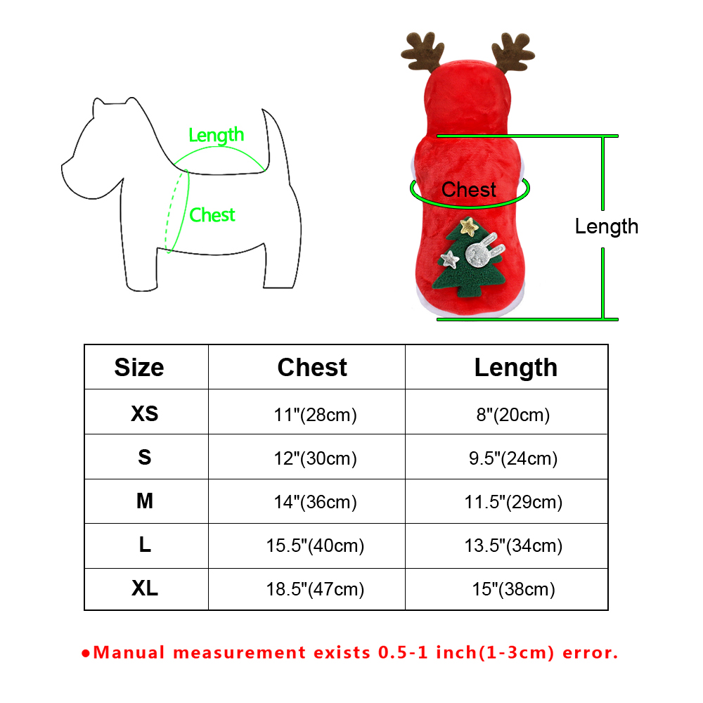 Warm Dog Jacket in Santa Claus Pattern with Hoodie and Warm Cuffs for Small Dogs 5