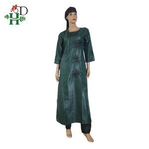 Image 4 - 3 pièces ensemble 2020 mode africaine vêtements pour femmes robes pantalon écharpe ensemble bazin riche robe broderie africaine vêtements S2946