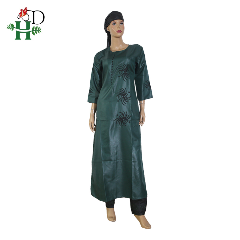 Image 4 - 3 pieces set 2019 fashion african clothing for women dresses pant scarf set bazin riche robe embroidery african clothes S2946Africa Clothing   -