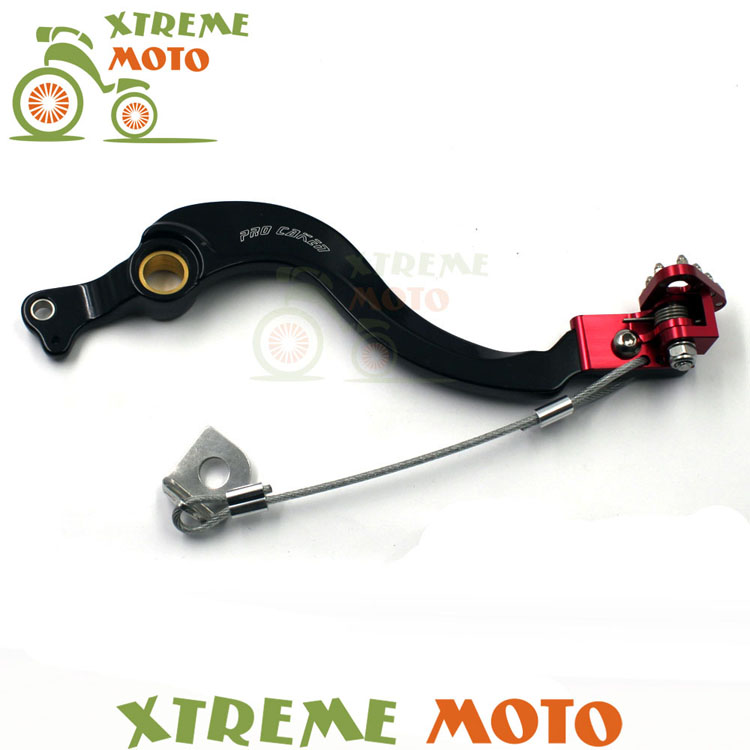 CNC Billet Forged Flexable Red Rear MX Foot Brake Lever Pedal For Honda CRF450R 02-16 Motocross Dirt Pit Bike Off Road Racing cnc gear shifter shift lever 7108 for crf250r 04 09 crf250x 04 09 crf450r 02 motorcycle motocross mx enduro dirt bike off road