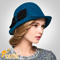 British vintage hat small fragrant wind pure wool hat  ladies church hats cap women tea party hats lady elegant ladies B-0788