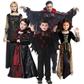 Vampire Family Costume Suite Dress Cosplay Horror for Dance Party Halloween Christmas Carnival Adult Child Man Women