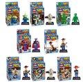 NUEVA caliente 8 unids/set Toy Story Buzz Lightyear Woody Figuras de Acción Building Blocks Ladrillos Compatibles juguetes Sin caja