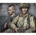 Escala 1/10 WW2 banda de irmãos Winster capitão ( com duas cabeças ) guerra mundial resina busto frete grátis