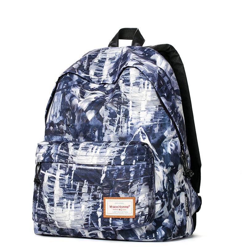 2016 Korean Youth School Bags Painting Backpack For Teens Student Schoolbags Backpack Brand Rucksacks For Male Female Vintage цена 2016