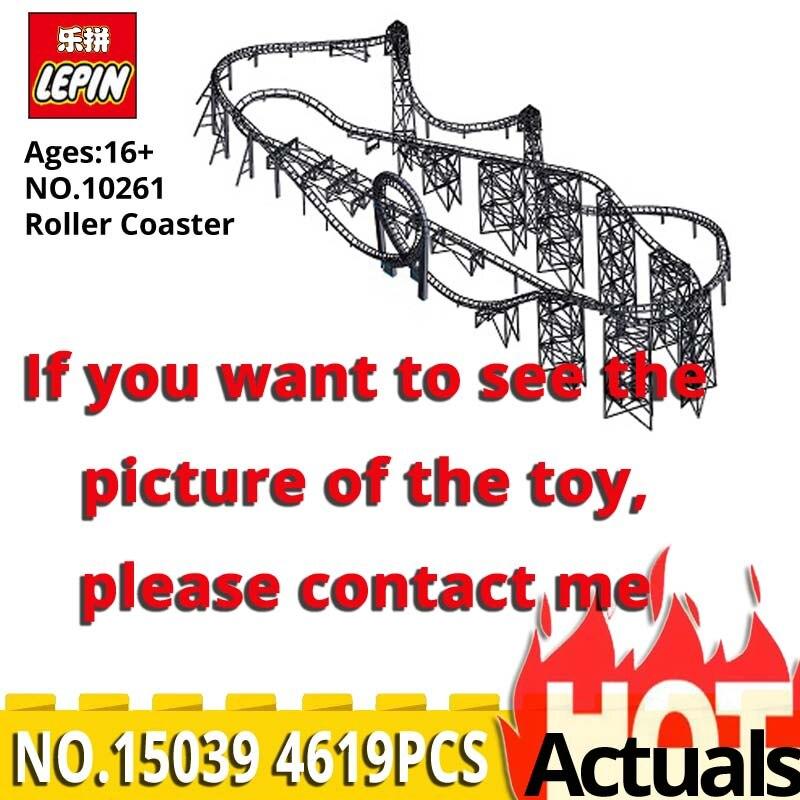 Lepin Créateur Série 15039 Roller Coaster Modèle Assemblage Blocs de Construction autobloquant Briques Kits Jouets compatible legoinglys