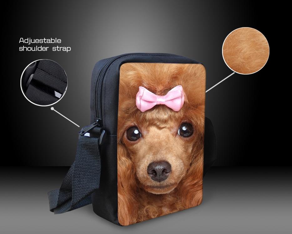 Mini Children School Bags French Animal Pug Dog Shoulder Book Bag ...