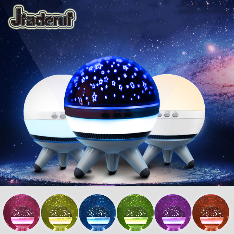 Jiaderui Newest Starry Sky LED Night Light Projector for Baby Kids Luminaria Novelty Table Lamps USB Illusion Children Best Gift ...