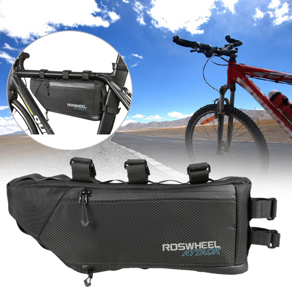 4L Waterproof Bicycle Bike Bag Accessories Storage Frame Tube Triangle Cycling Front Bag for A Bike Bisiklet Aksesuar wheel up bicycle rear seat trunk bag full waterproof big capacity 27l mtb road bike rear bag tail seat panniers cycling touring