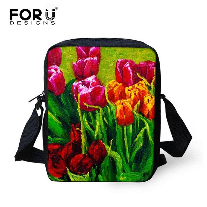 New 3D Painting Flower Printed School Bags for Girls Designer Women Floral Shoulder Bag Children Schoolbag Kids Bookbag Mochilas