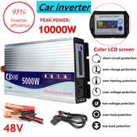 Inversor 12 V/24 V/48 V 220V 5000W 10000W picos potencia de onda sinusoidal modificada convertidor inversor de transformador de voltaje + pantalla LCD