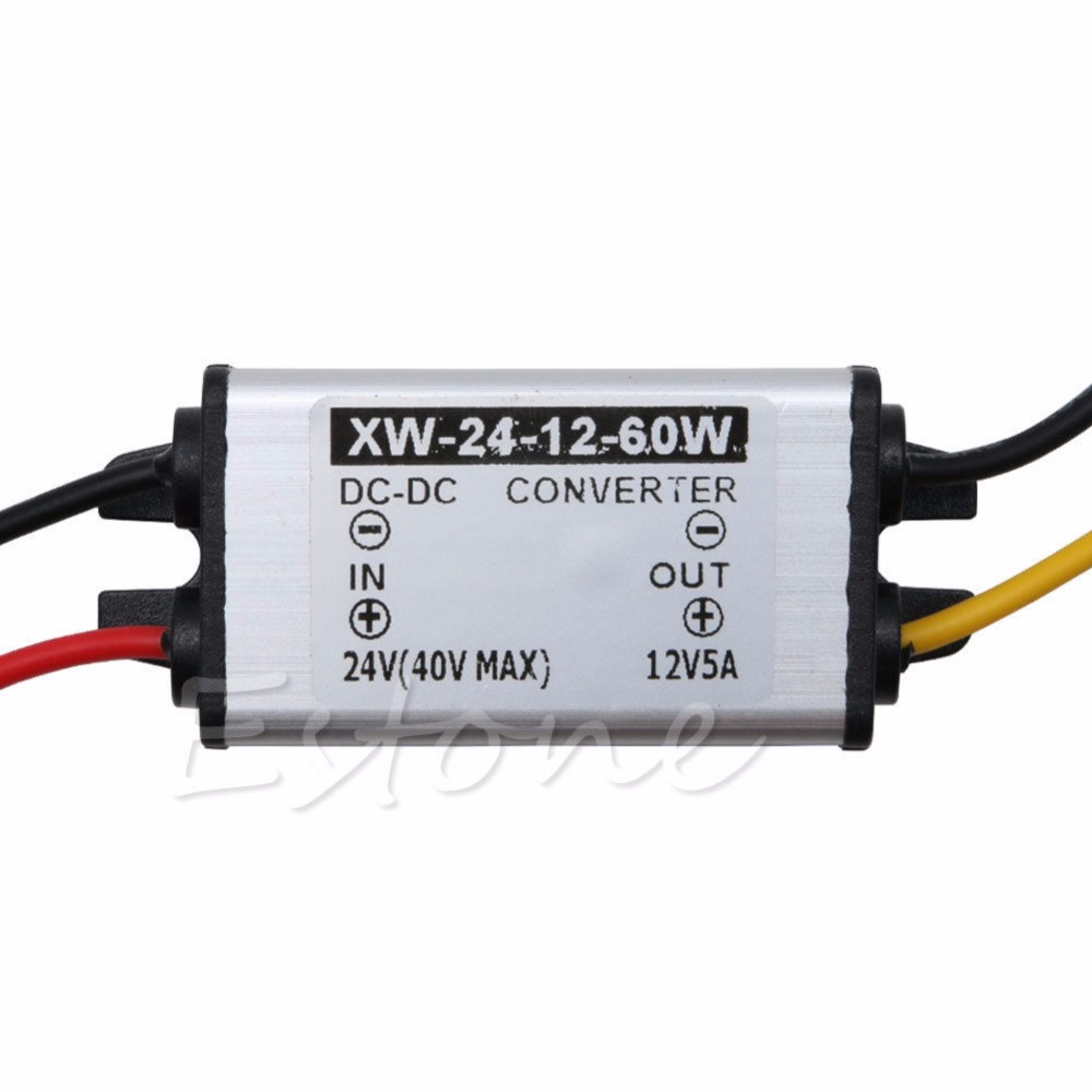 High Quality Waterproof Car Truck DC 24V To DC 12V 5A 60W Power Supply Converter Adapter in Replacement Parts Accessories from Consumer Electronics