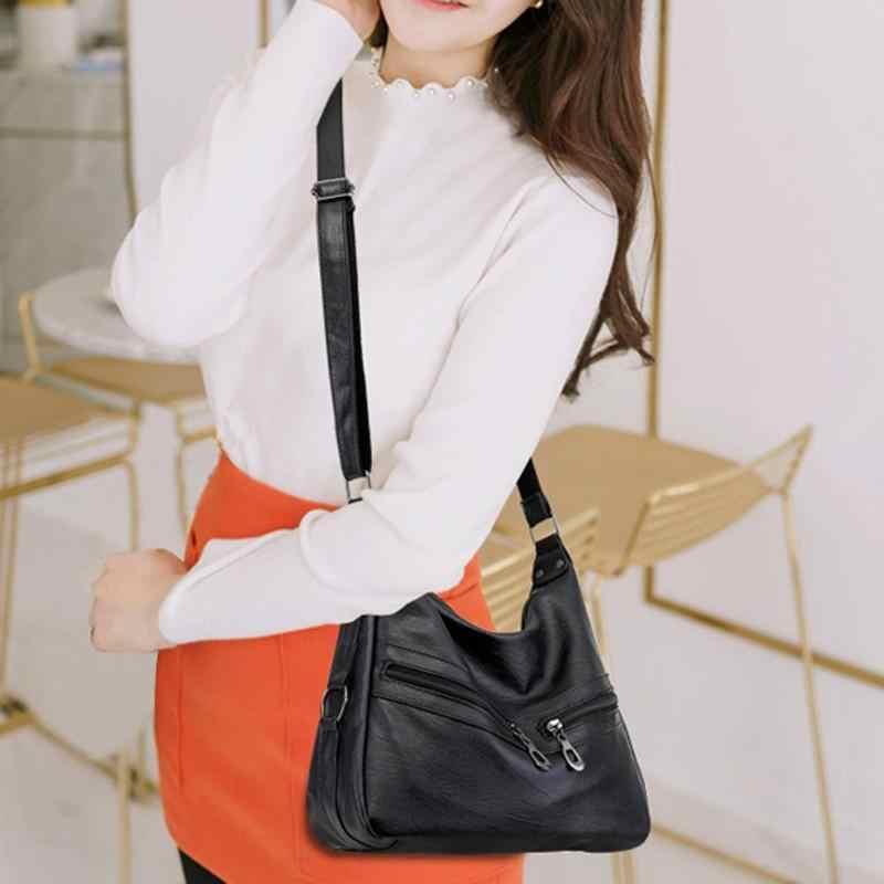 Mulheres hobos mensageiro saco de luxo autêntico couro do plutônio macio bolsa feminina designer crossbody ombro bolsa feminina