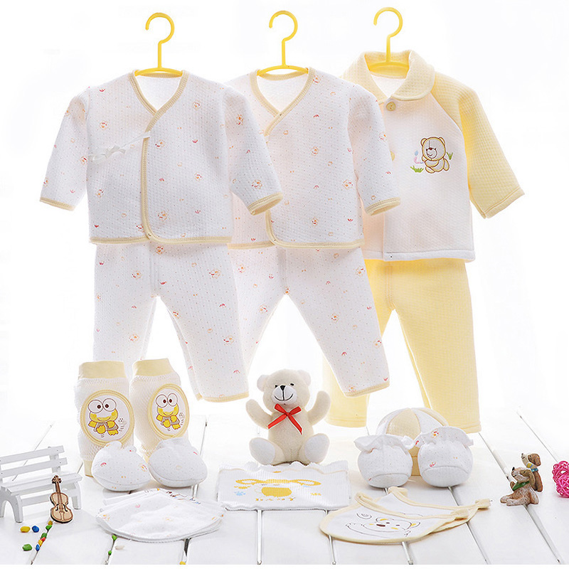 831064700917b 21Pcs 100% Cotton Material New Born Baby Clothing Set
