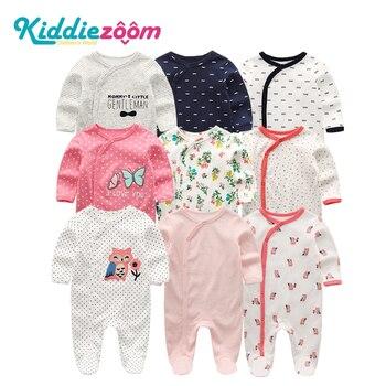 2020 2/3/4pcs/lot Cartoon Baby Boy roupa de bebes Newborn Jumpsuit Long Sleeve Cotton Pajamas 0-12 Months Rompers Girl Clothe