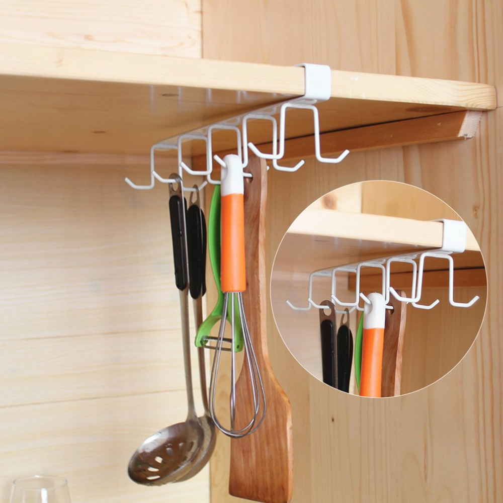 Kitchen Storage Rack Cupboard Hanging Hook Hanger Storage