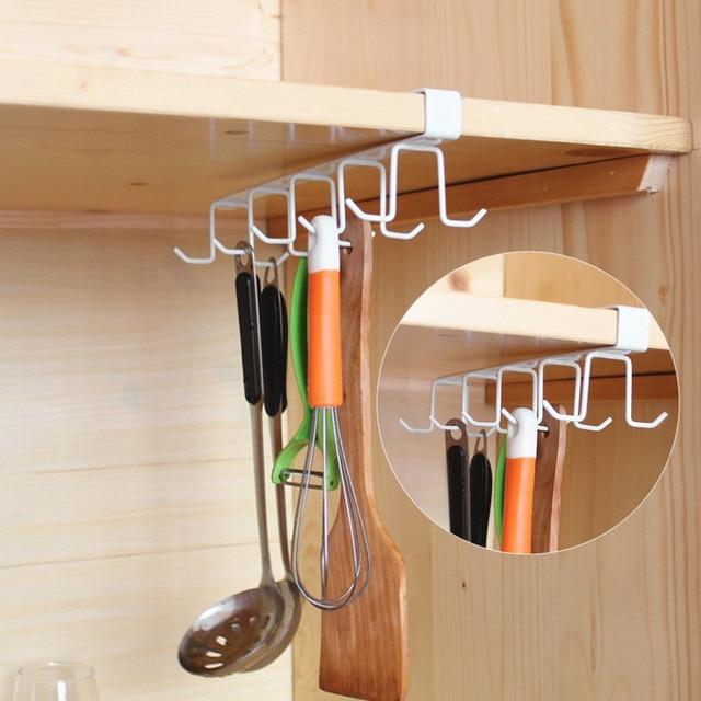 Kitchen Storage Rack Cupboard Hanging Hook Hanger Organizer Holder Shelf Wall Hooks Coffee Cup