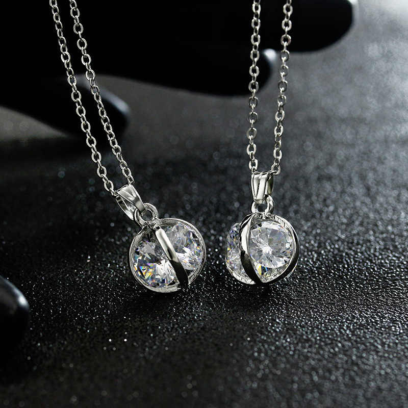 Cinderella Carriage Pearl Kalung Kandang Perak Labu Liontin Wanita Mutiara Kalung Wanita Perhiasan Natal/Hadiah Ulang Tahun