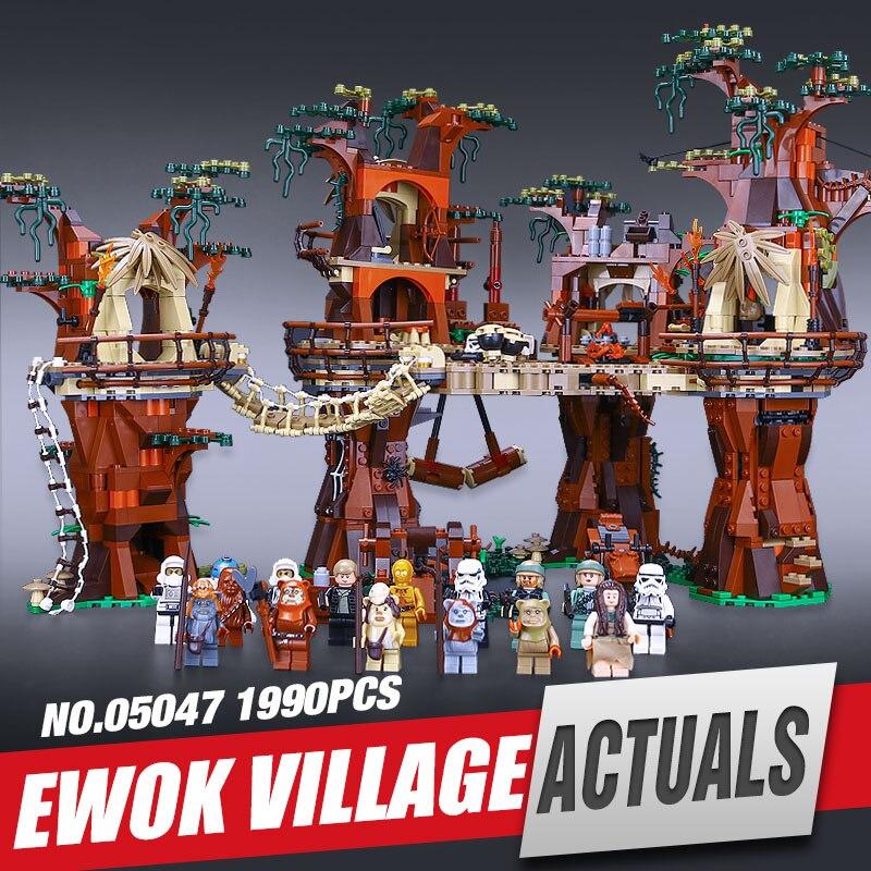 Lepin 05047 Star Wars Ewok Village Building Blocks Juguete para Construir Bricks Toys Compatible with 10236