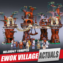 Lepin 05047 Star Wars Ewok Village Building Blocks Juguete para Construir Bricks Toys Compatible with 10236