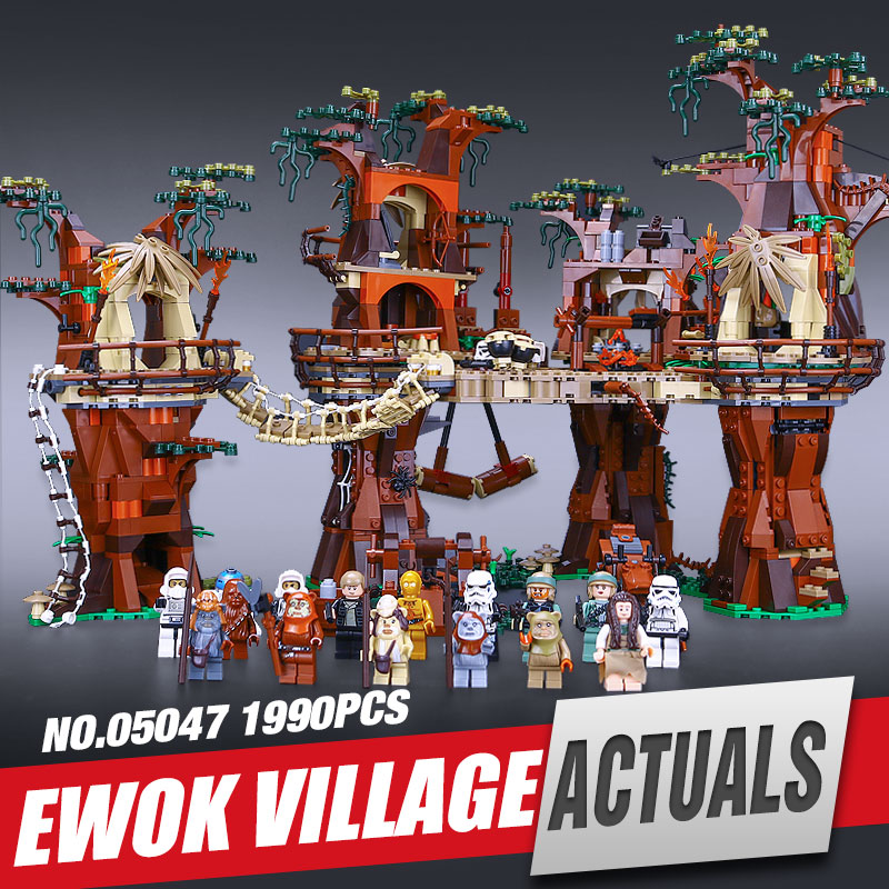 Lepin 05047 Star Wars Ewok Village Building Blocks Juguete para Construir Bricks Toys Compatible with legeo
