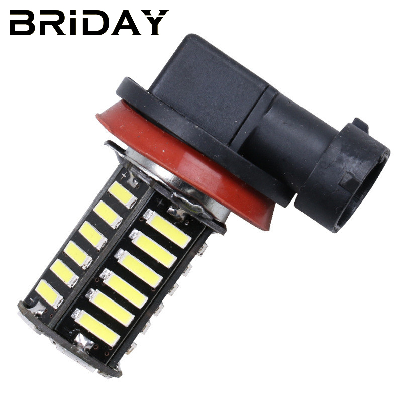 BRIDAY New 2pcs H11 h8 7020 39SMD Fog Lights LED Car Daytime Running Light fog Lamp Bulbs Auto Car LED Lights car-styling DC 12v new arrival a pair 10w pure white 5630 3 smd led eagle eye lamp car back up daytime running fog light bulb 120lumen 18mm dc12v