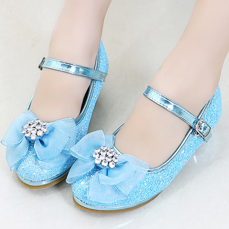 66973cb97752 IYEAL Girls Party Leather Shoes With Bow Princess Girl Glitter Sequins High  Heel Shoes For Kids Single Dance Dress Shoe 5 Colors - aliexpress.com -  imall. ...