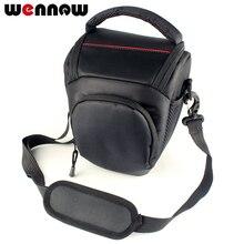 Wennew üçgen paketi kamera çantası Canon EOS 4000D 2000D 1300D 1200D 1000D 800D 760D 750D 700D 650D 600D 550D 500D 200D kılıfı