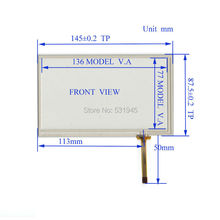 New 6 Inch Touch Screen 145mm*87mm  for 6 GPS GLASS 145*87  for tble compatible 060029 for gps touch on TM060RDH01