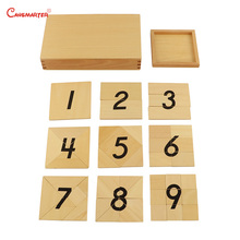 Montessori Wooden  Puzzles Digital Segmentation 1-9 Numbers Teaching Aids Toys Toddlers Educational Math Toy Children MA083-3